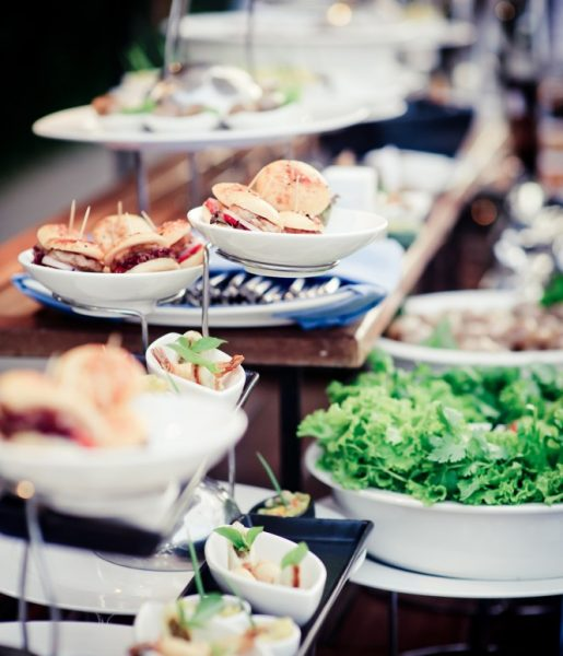 Buffet of food during event